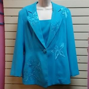 Woman's size 12 (Caribbean Blue) coat & skirt set